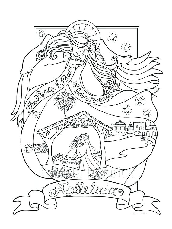 570x760 Nativity Coloring Book And Precious Moments Coloring Pages