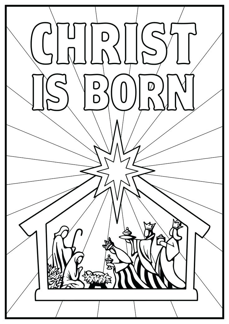 736x1041 Nativity Scene Coloring Pages Nativity The Birth Of Scene Coloring