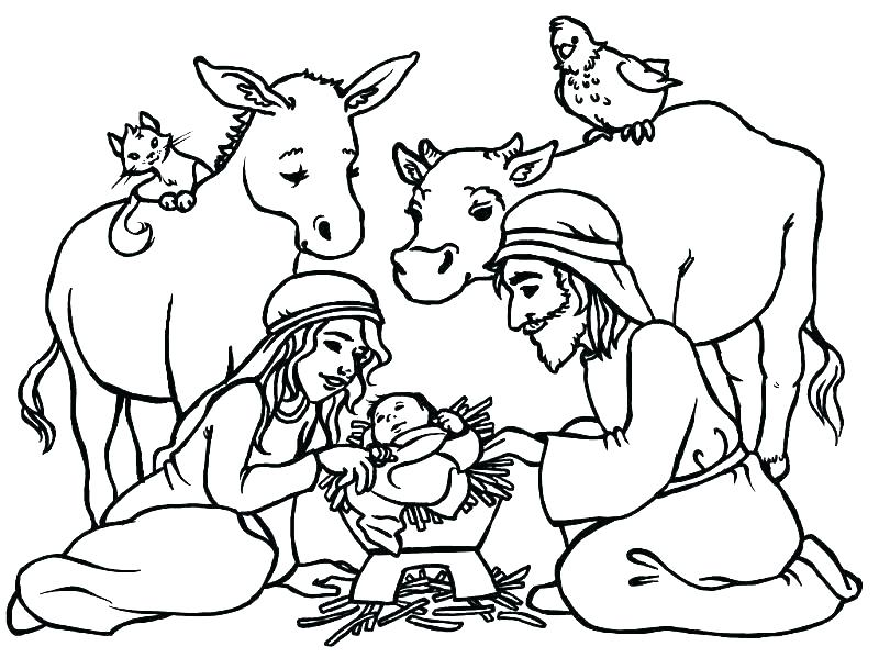 800x609 Lds Nativity Coloring Pages Printable