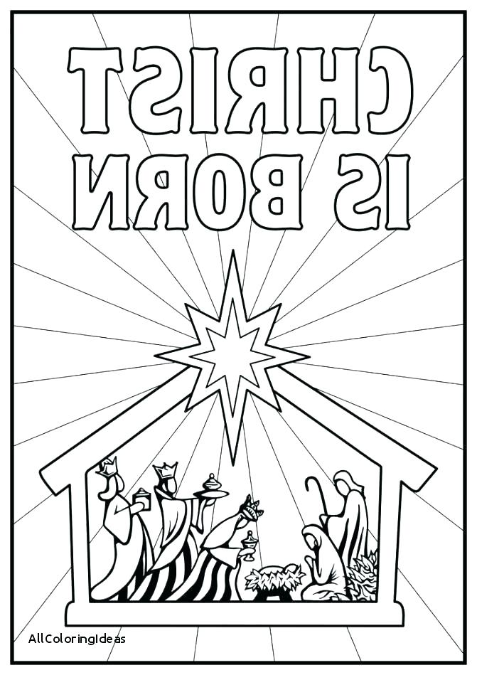 671x949 Nativity Color Page Manger Coloring Page In Manger Coloring Page