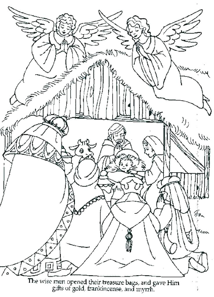 737x1024 Nativity Coloring Page Pages For Preschool