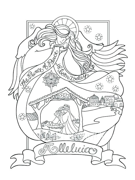 564x752 Nativity Coloring Pages Free Nativity Coloring Page Nativity