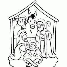 236x236 Nativity Scene Coloring Page Link Is No Longer Active But I