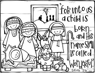 320x246 Christmas Nativity Coloring Page Printables