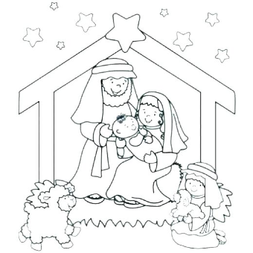 520x520 Nativity Coloring Pages Printable