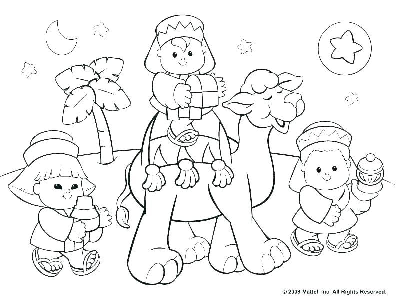 792x612 Nativity Scene Coloring Pages Preschoolers Deepart