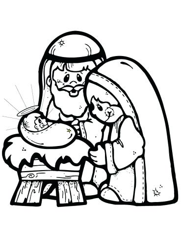 371x480 Free Nativity Coloring Pages Baby Coloring Pages Printable Baby