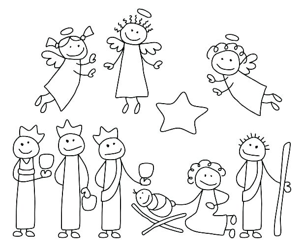 618x509 Free Nativity Coloring Pages Nice Free Nativity Coloring Pages