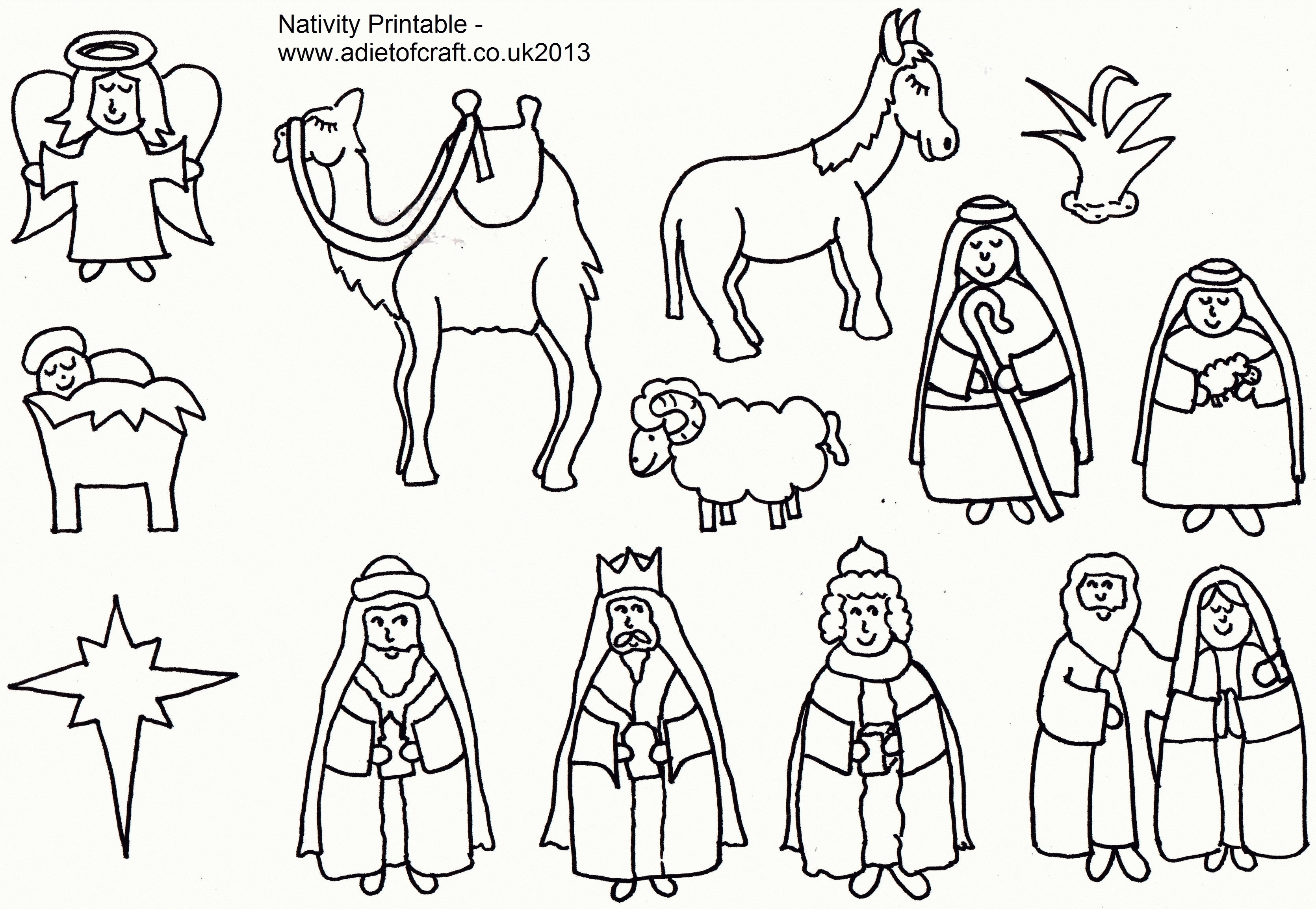 3341x2309 Free Printable Nativity Coloring Pages For Kids Best Ripping Scene