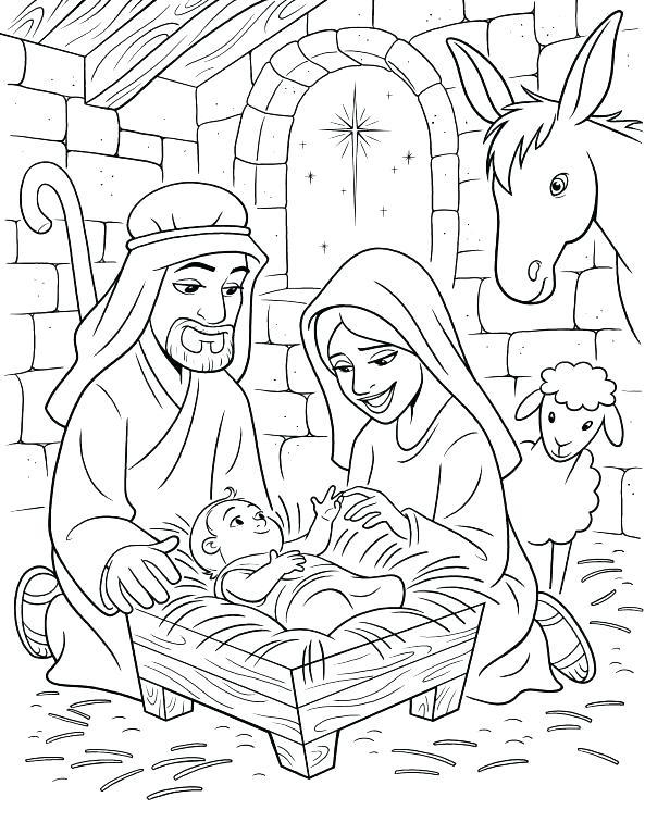 593x768 Nativity Color Page Elegant Nativity Coloring Page Online Unique