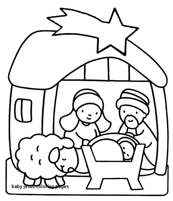 600x699 Nativity Coloring Page Nativity Coloring Pages Printable For Free