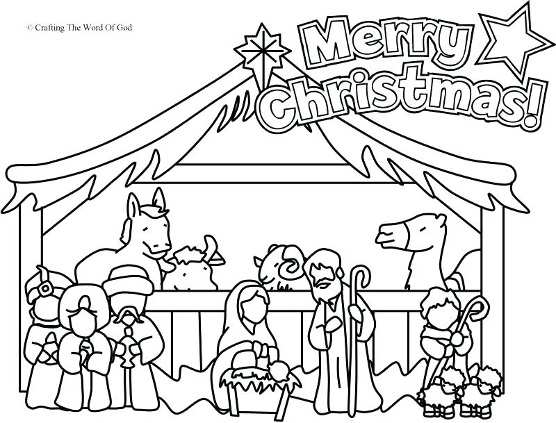 800x609 Nativity Coloring Pages For School Archives Best Coloring X