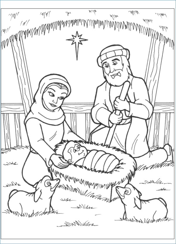 600x831 Baby Jesus Christmas Coloring Pages Printable