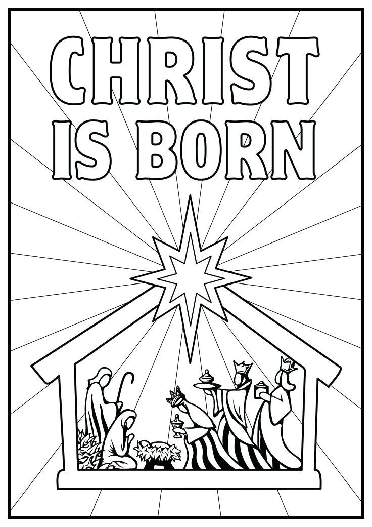 736x1041 Nativity Color Page