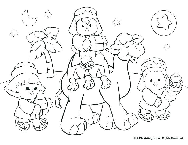 792x612 Nativity Coloring Pages Free