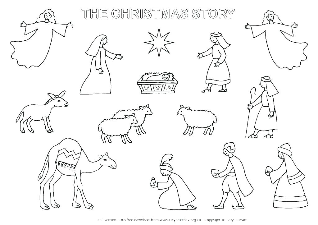 1024x724 Nativity Coloring Pages Printable