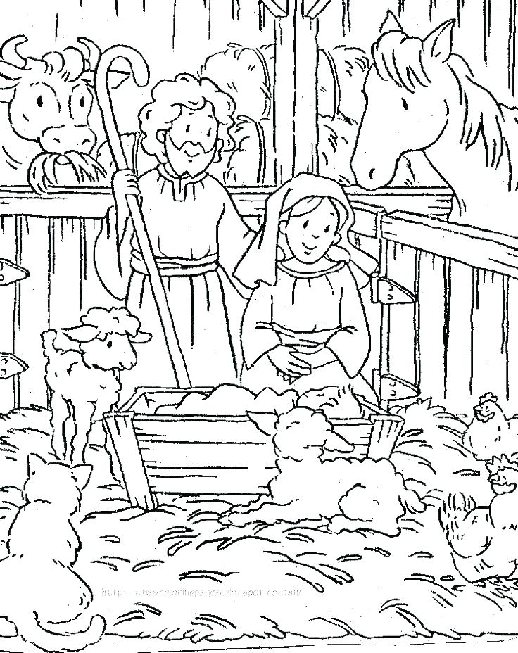736x928 Nativity Coloring Pages