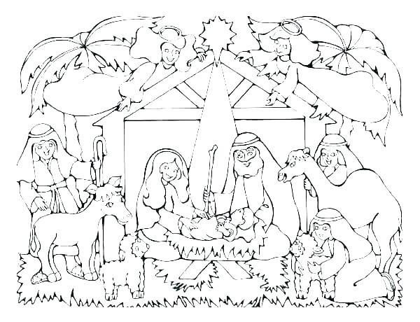 600x460 Printable Nativity Coloring Pages
