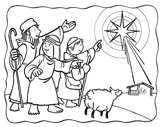 564x435 Christmas Nativity Coloring Pages Printable Printable Nativity