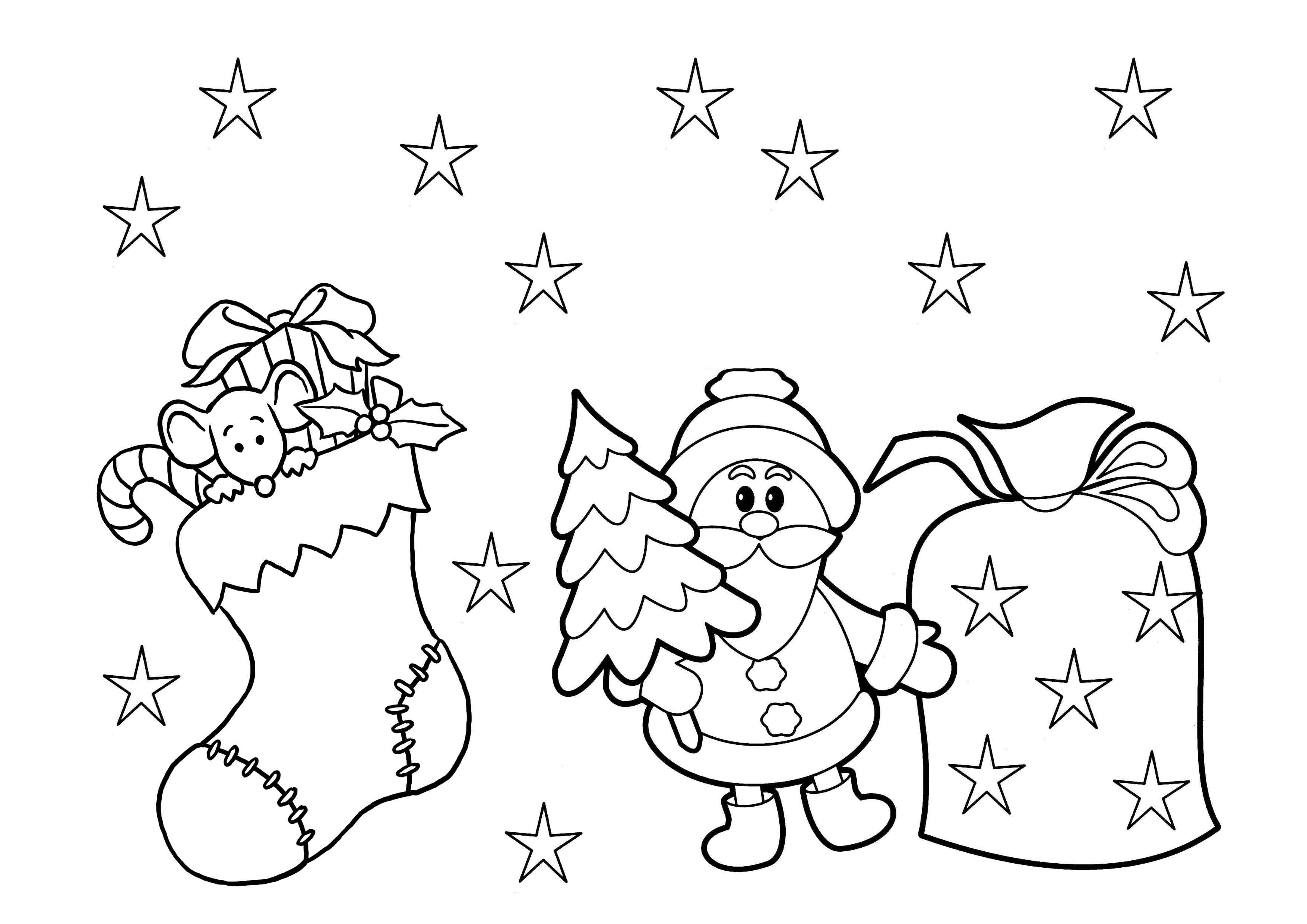 3508x2480 Free Printable Candy Cane Coloring Pages For Kids Collection