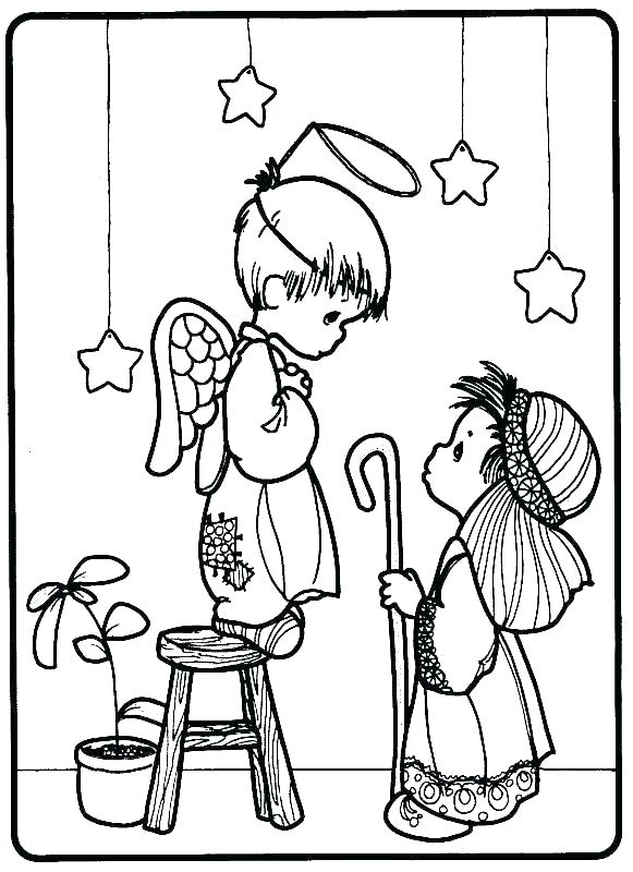 581x800 Free Printable Nativity Scene Coloring Pages Colouring Pages