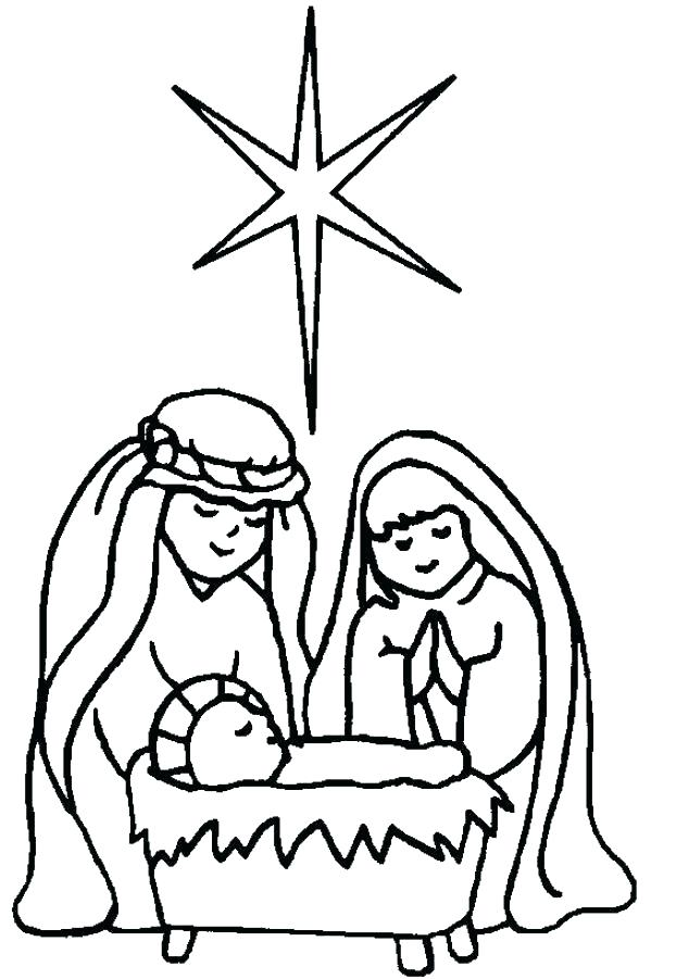 622x901 Nativity Scene Coloring Pages As Well As Coloring Pages Preschool