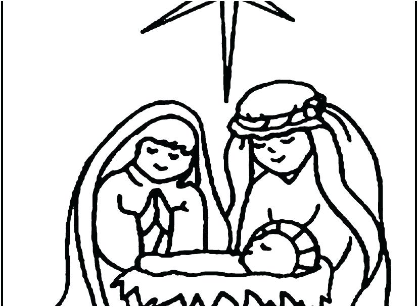 827x609 Nativity Scene Coloring Pages Baby Coloring Pages Display New