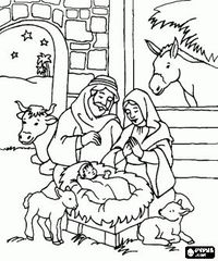 200x240 Posts Similar To Nativity Scene Coloring Pages, Nativity Scene