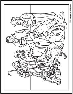 236x304 Printable Nativity Coloring Page To Cut Out And Make Your Own