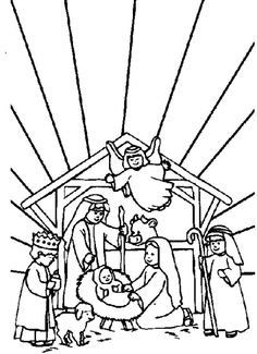 236x325 Printable Nativity Scene Coloring Pages For Kids