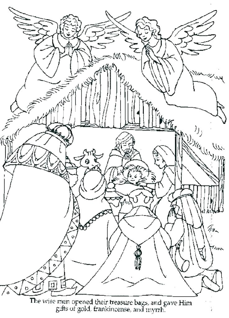 737x1024 Free Nativity Coloring Pages For Kids Nativity Scene Coloring