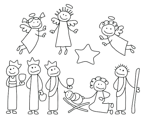 618x509 Coloring Manger Scene Coloring Page Free Nativity Pages Printable