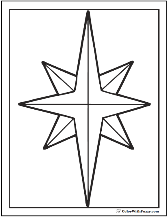 Nativity Star Coloring Pages