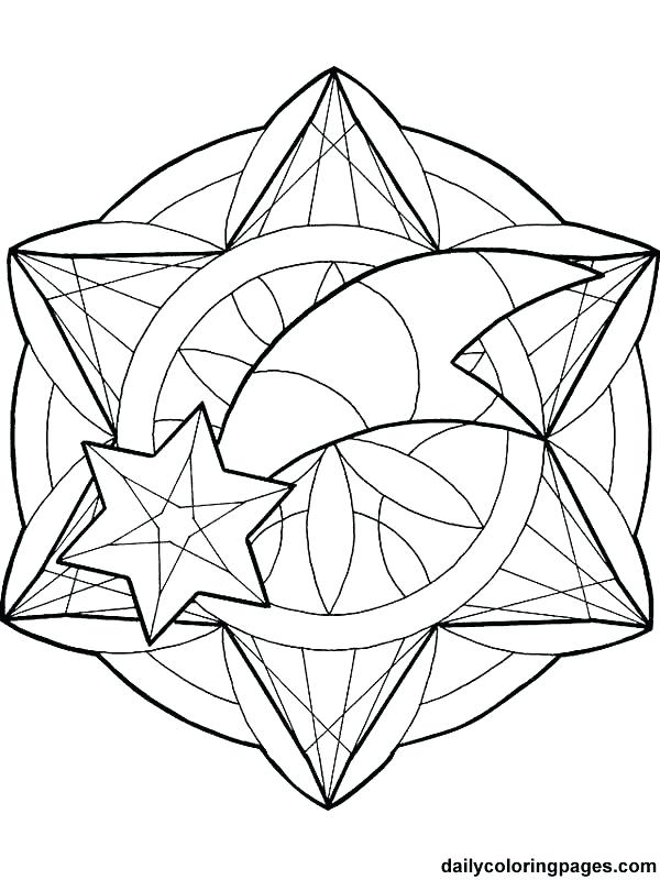 600x800 Christmas Star Coloring Page With Star Coloring Star Coloring