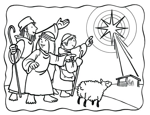 622x480 Christmas Star Coloring Pages Coloring Page Tree With Star