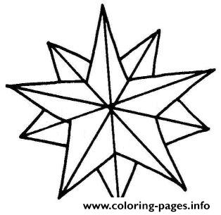 314x305 Clip Art Christmas Star Coloring Pages Printable