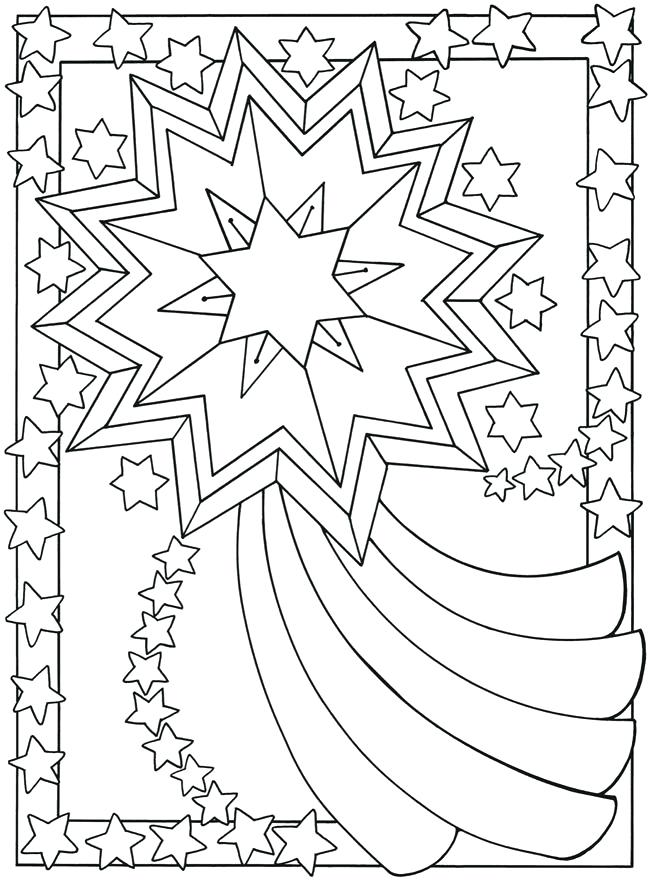 650x880 Star Coloring Pictures Printable Shooting Star Coloring Pages