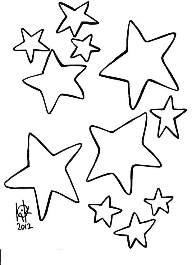 618x850 Star Colouring Sheet