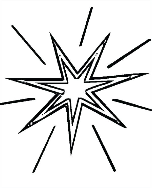 600x741 Christmas Star Coloring Pages