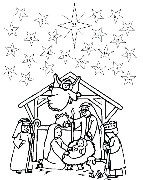 600x755 Coloring Pages Nativity Coloring Pages Church Coloring Page