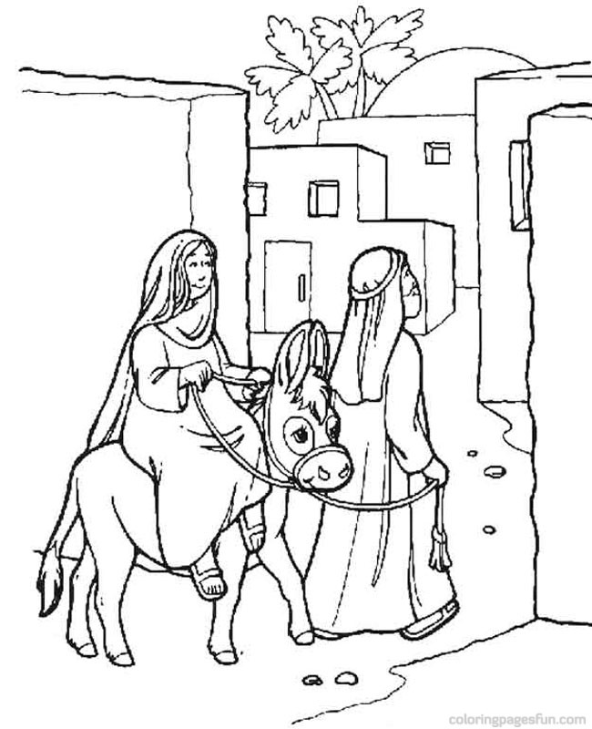 650x800 Free Printable Nativity Story Coloring Pages