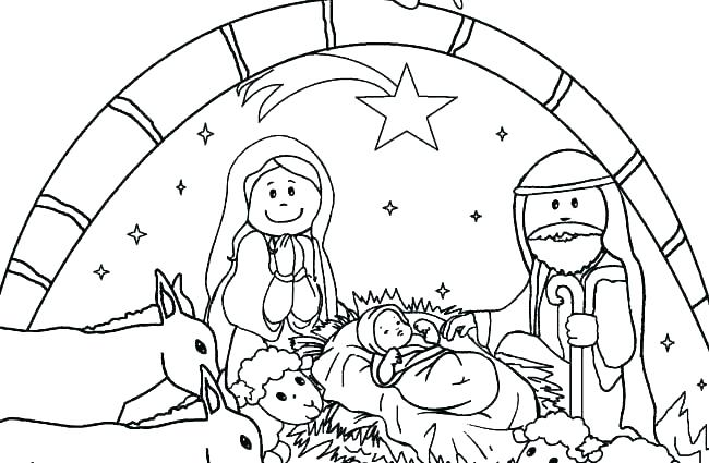 650x425 Free Printable Nativity Story Coloring Pages Page Sheet Nativi