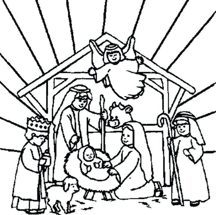 720x715 Nativity Story Coloring Pages Printable Nativity Free Coloring