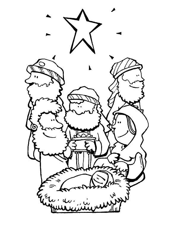 600x776 Star Of Bethlehem And Three Wise Men Bible Christmas Story