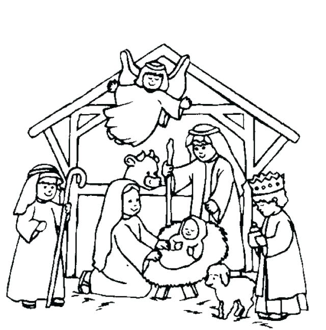 640x647 Story Coloring Book Printable Nativity Coloring Pages Story
