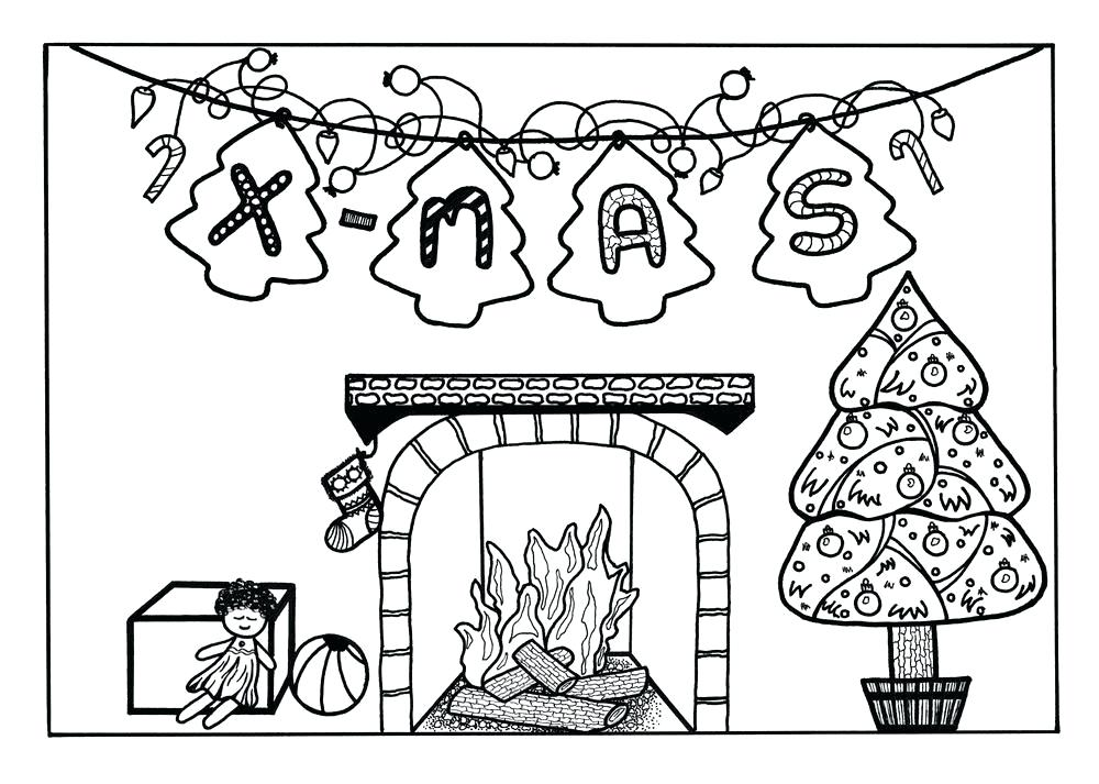 1000x713 Twas The Night Before Christmas Coloring Pages Twas The Night