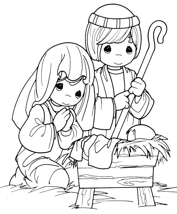 736x891 Nativity Coloring Pages