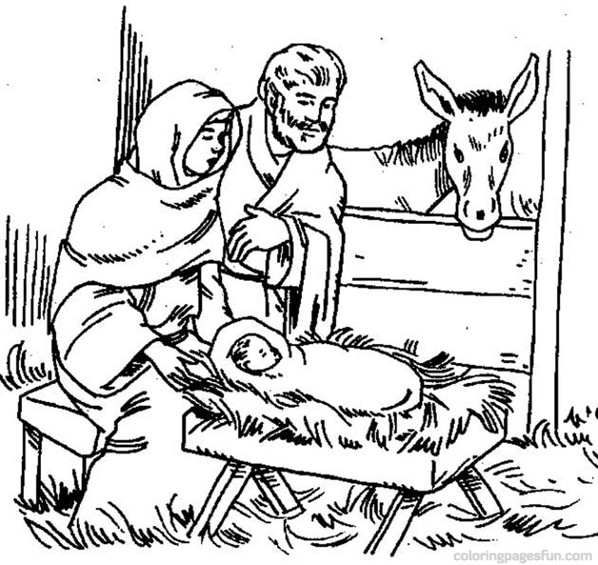 846x800 Bible Christmas Story Coloring Pages