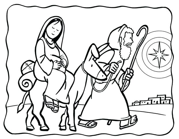 621x480 Christmas Story Coloring Pages Plus Star Of And Three Wise Men