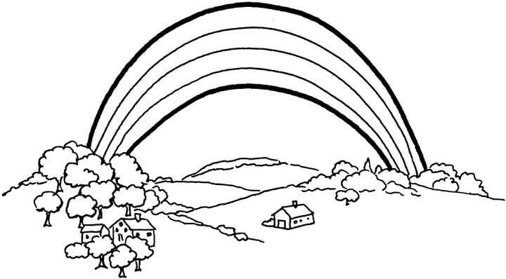 720x398 Somewhere Over The Rainbow Nature Coloring Page